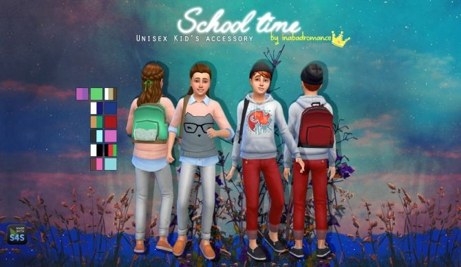 School time backpack at In a bad Romance • Sims 4 Updates | Sims 4
