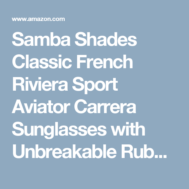 f691d3bd4f35 Samba Shades Classic French Riviera Sport Aviator Carrera Sunglasses with Unbreakable  Rubber Red Frame