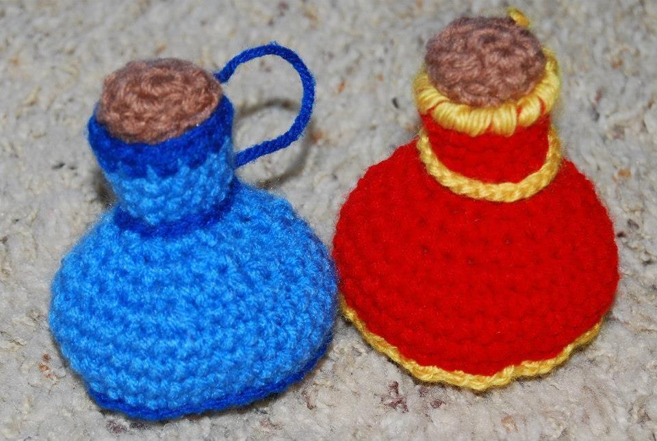 Crochet Potion Bottle Dice Bags by KookyKrochet   Crochet ...