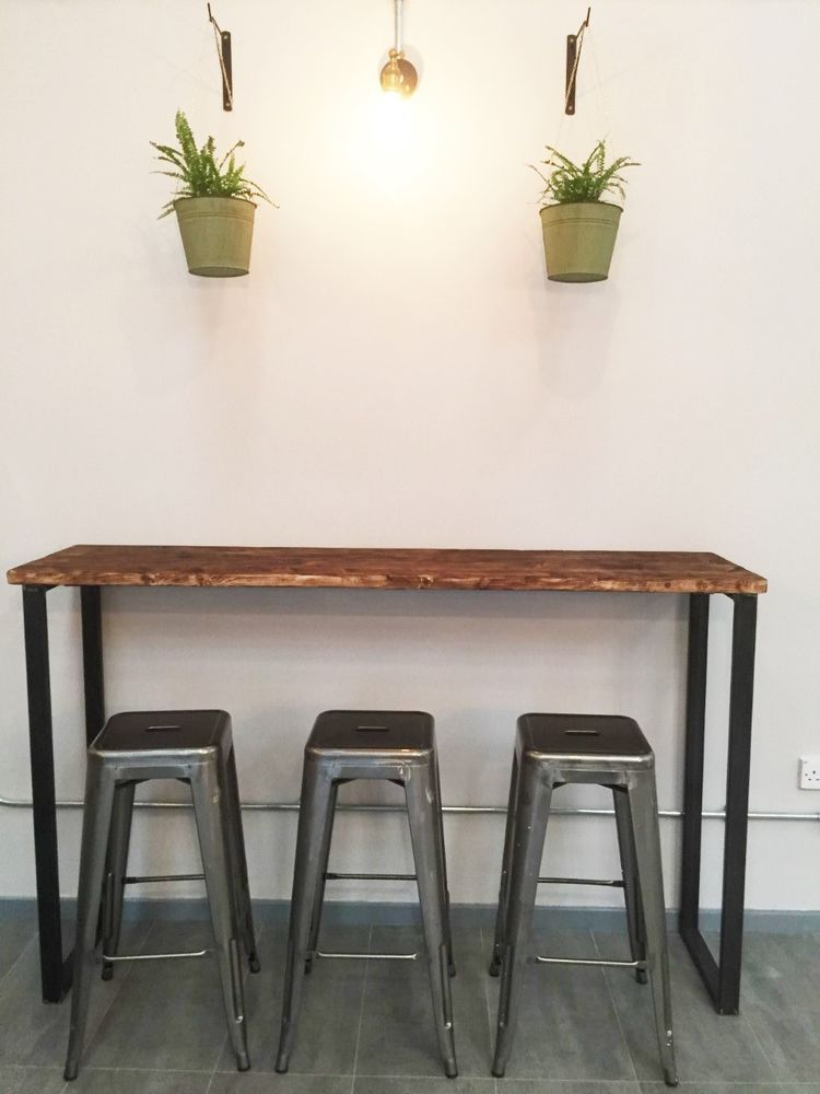 Breakfast Bar Table / Bistro Table/ Poseur Table /Reclaimed Wood Table