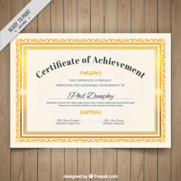 Certified ornamental golden frame free vector certificate certificate of authenticity template certificate of authenticity template free certificate of yelopaper Images