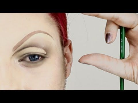 Drag Queen Eyebrows - Covering Brows and Beards in Detail - YouTube