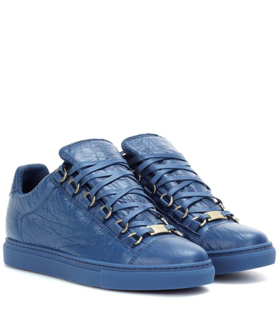 Leather sneakers, Balenciaga womens