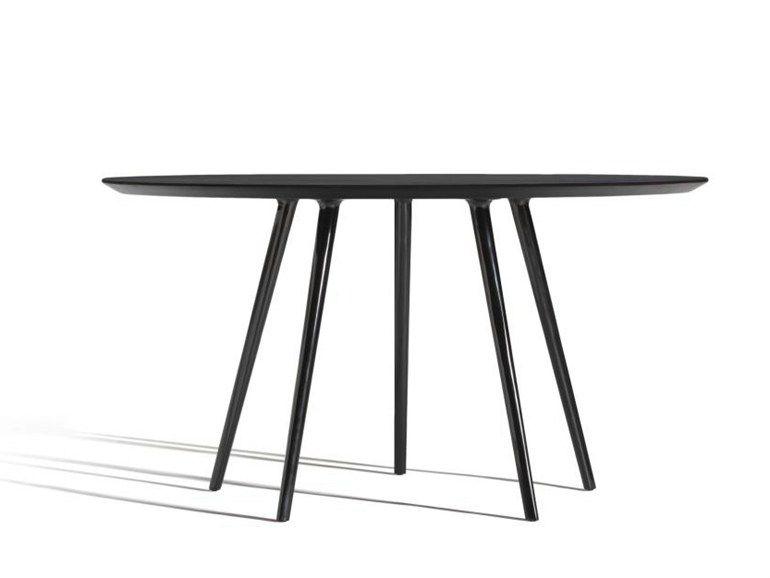 Runder Tisch Aus Aluminium Und Holz Gazelle By Capdell Design