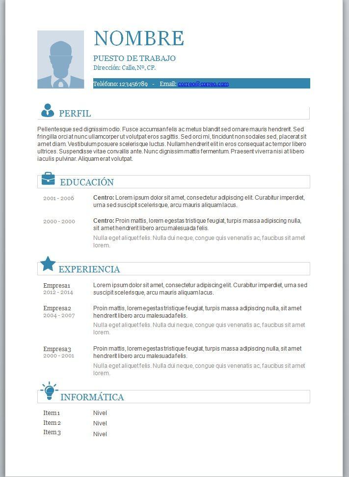 hojas de vida creativas en word - Buscar con Google Fondos