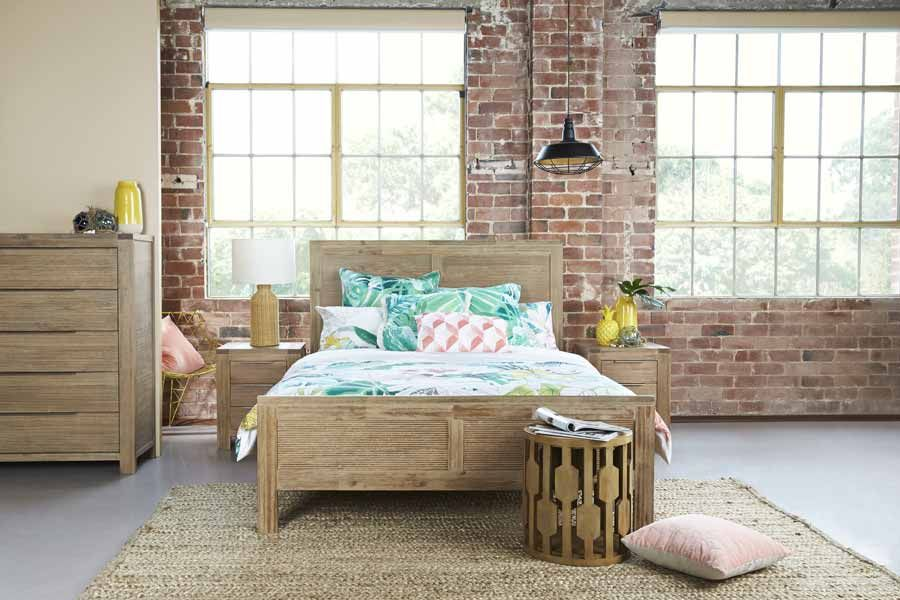 Palm Beach Beech Timber King Size Bed Bedshed Bed Bedroom
