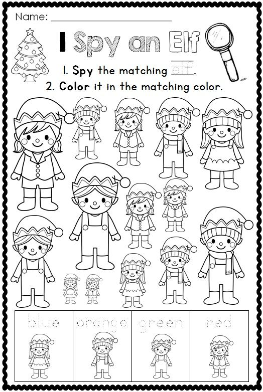 I Spy Christmas Printables For Kindergarten Click To See More Christmas Kindergarten Christmas Classroom Christmas Coloring Pages