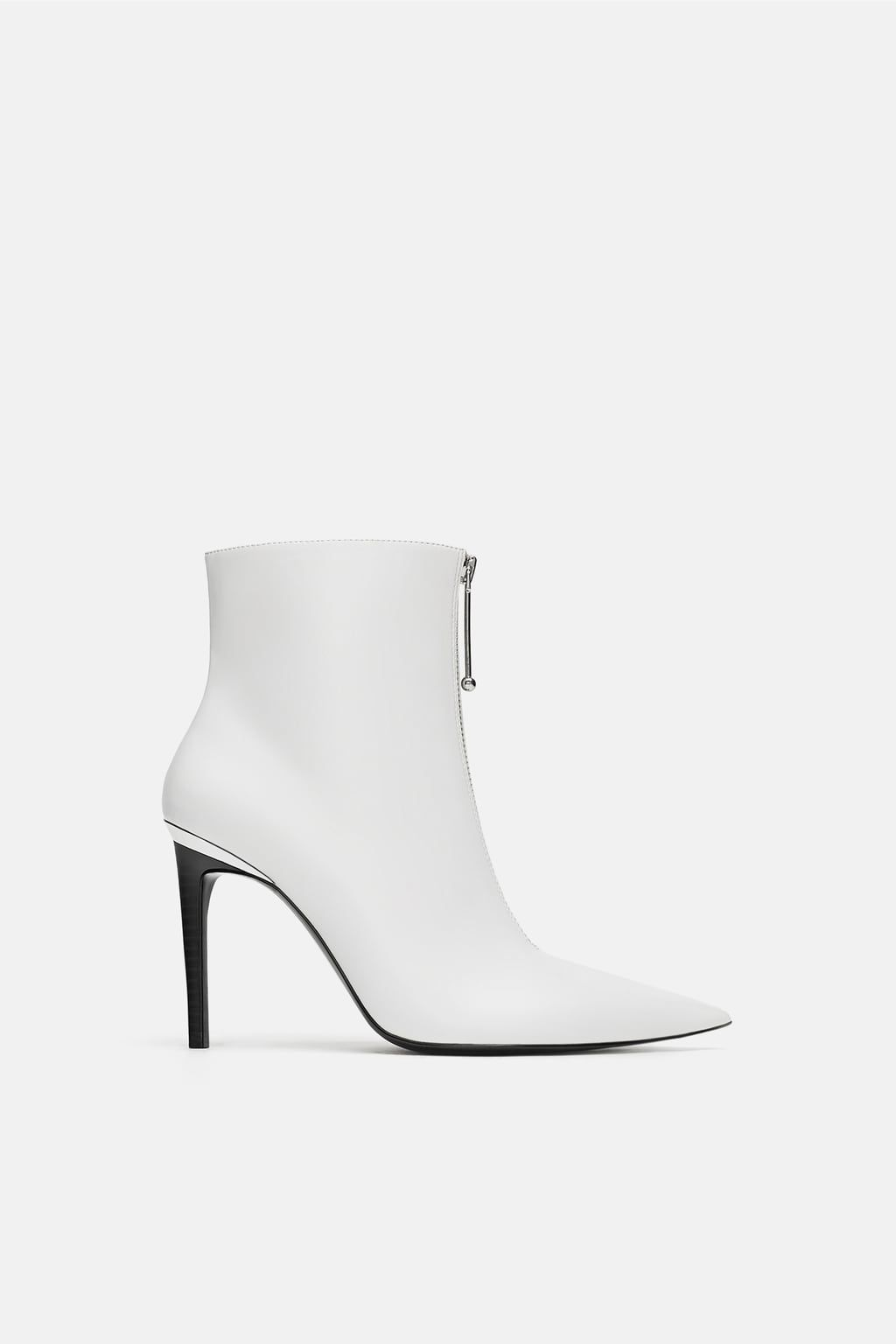 Zara   Boots, White ankle boots, Shoes