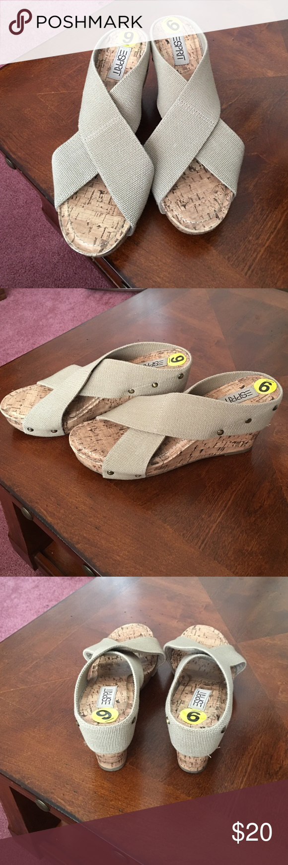 Sandals Super comfy and casual sandal with elastic cotton straps, perfect for that walk on the beach Boardwalk  ESPRIT Shoes Sandals