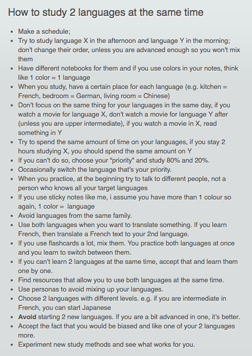 how to study 2 languages at the same time #learningspanish