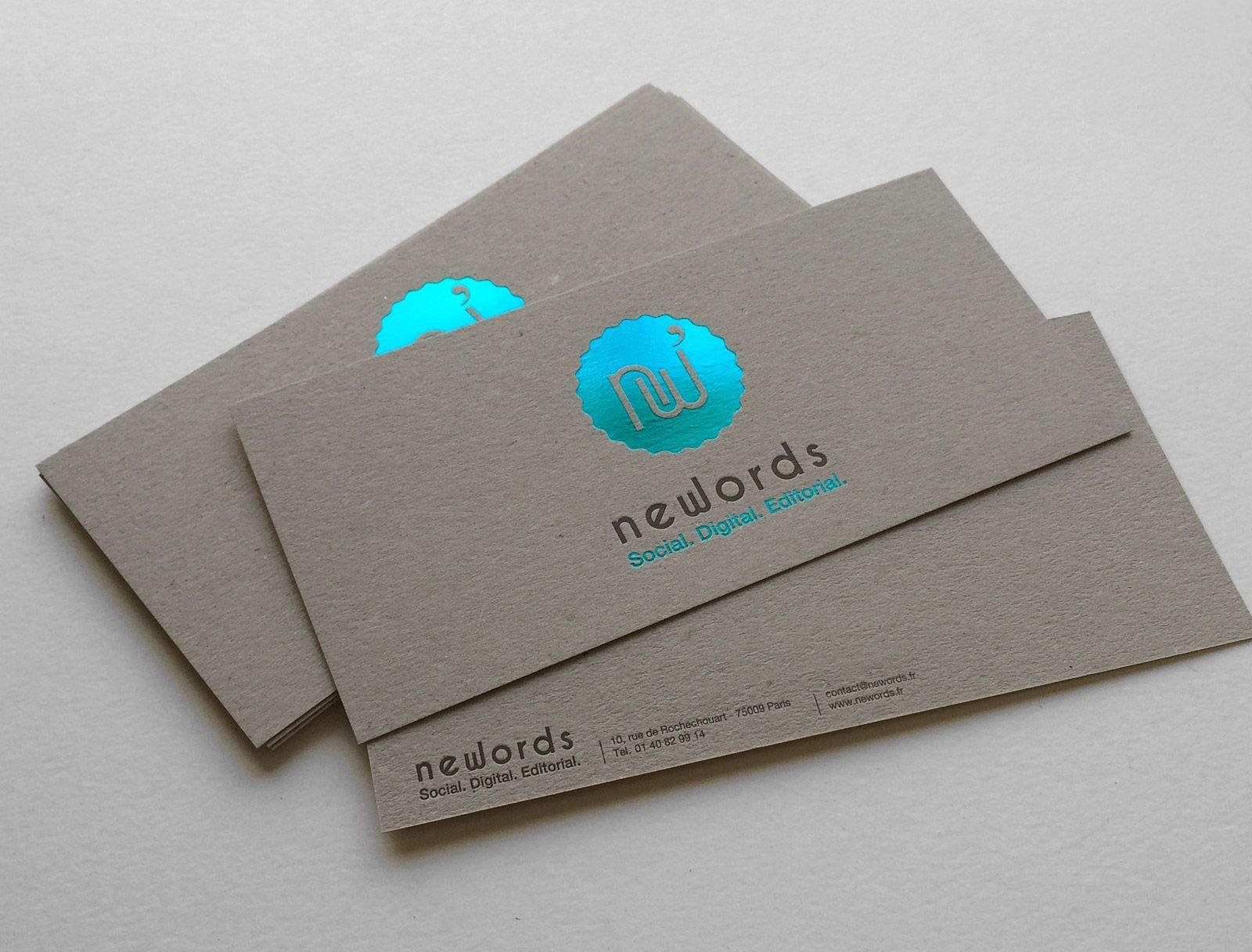 Print : Badcass - Design : Newords - Carte de correspondance en ...