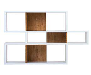etag re i bois v ritable blanc mat et naturel l156. Black Bedroom Furniture Sets. Home Design Ideas