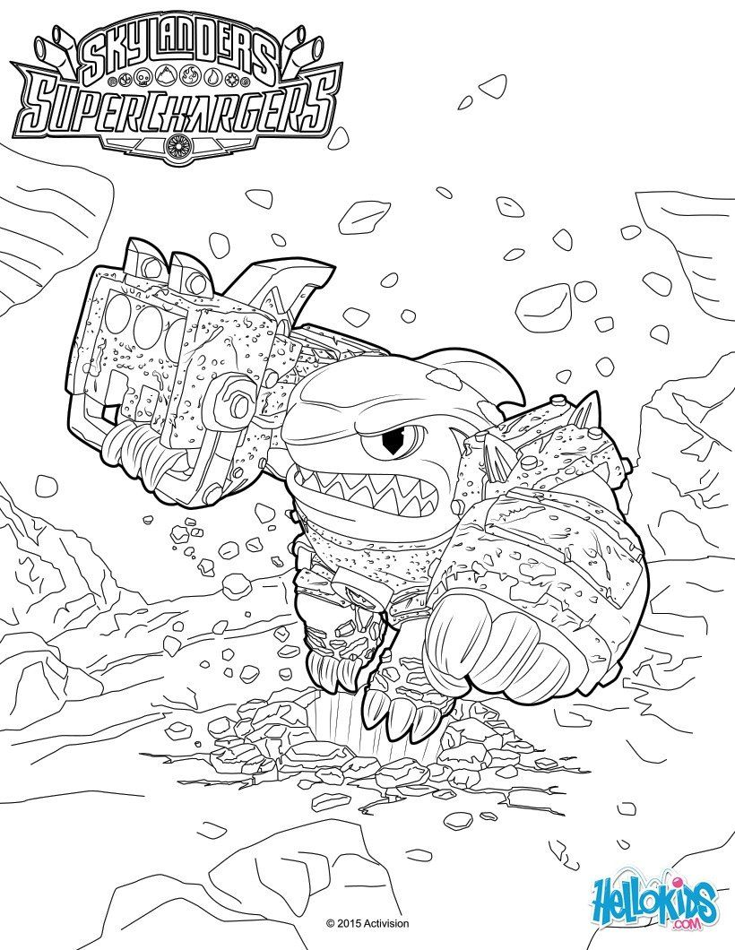 Terrafin Coloring Page From Skylanders Superchargers Video Game