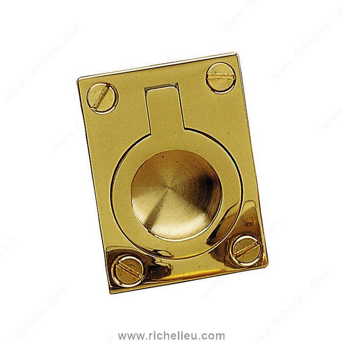 Classic Brass Recessed Pull - 690 - 690228130 - Richelieu Hardware