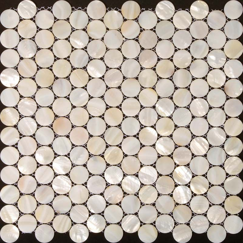 Penny round mother of pearl tile backsplash for kitchen and bathroom ...
