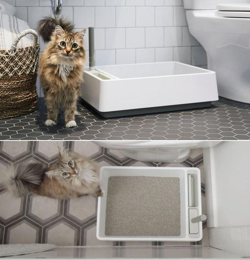 Modern Cat Designs TTLH03B Litter Box Hider44; Black