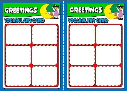 GREETINGS BOARD GAME VOCABULARY CARDS http://eslchallenge.weebly.com/english-yes-1.html