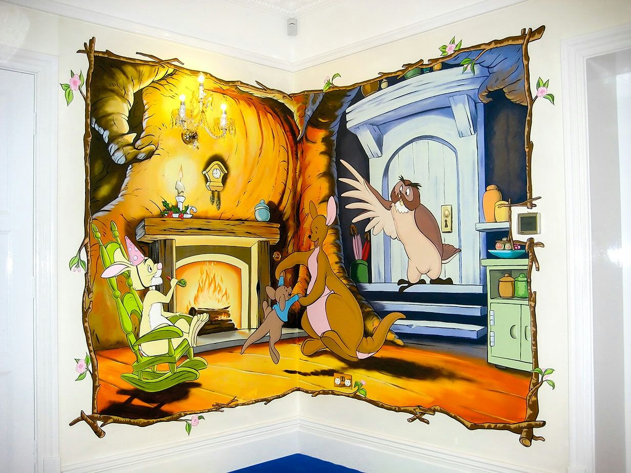 Another mural in private playroom, inside Kanga\'s house with some ...