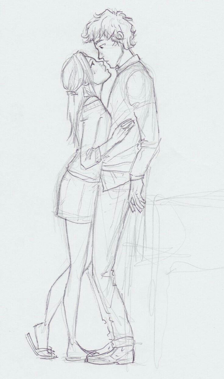 Картинки парня и девушки поэтапно