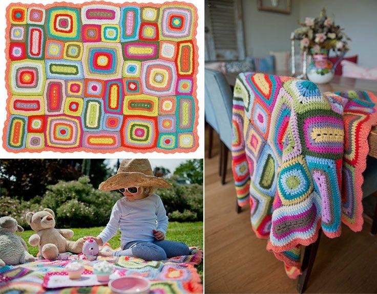 Weegoamigo Crochet Blanket - Nora - UrbanBaby