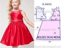 de19b593f Resultado de imagen para vestidos de niña casuales de 8 años patrones gratis