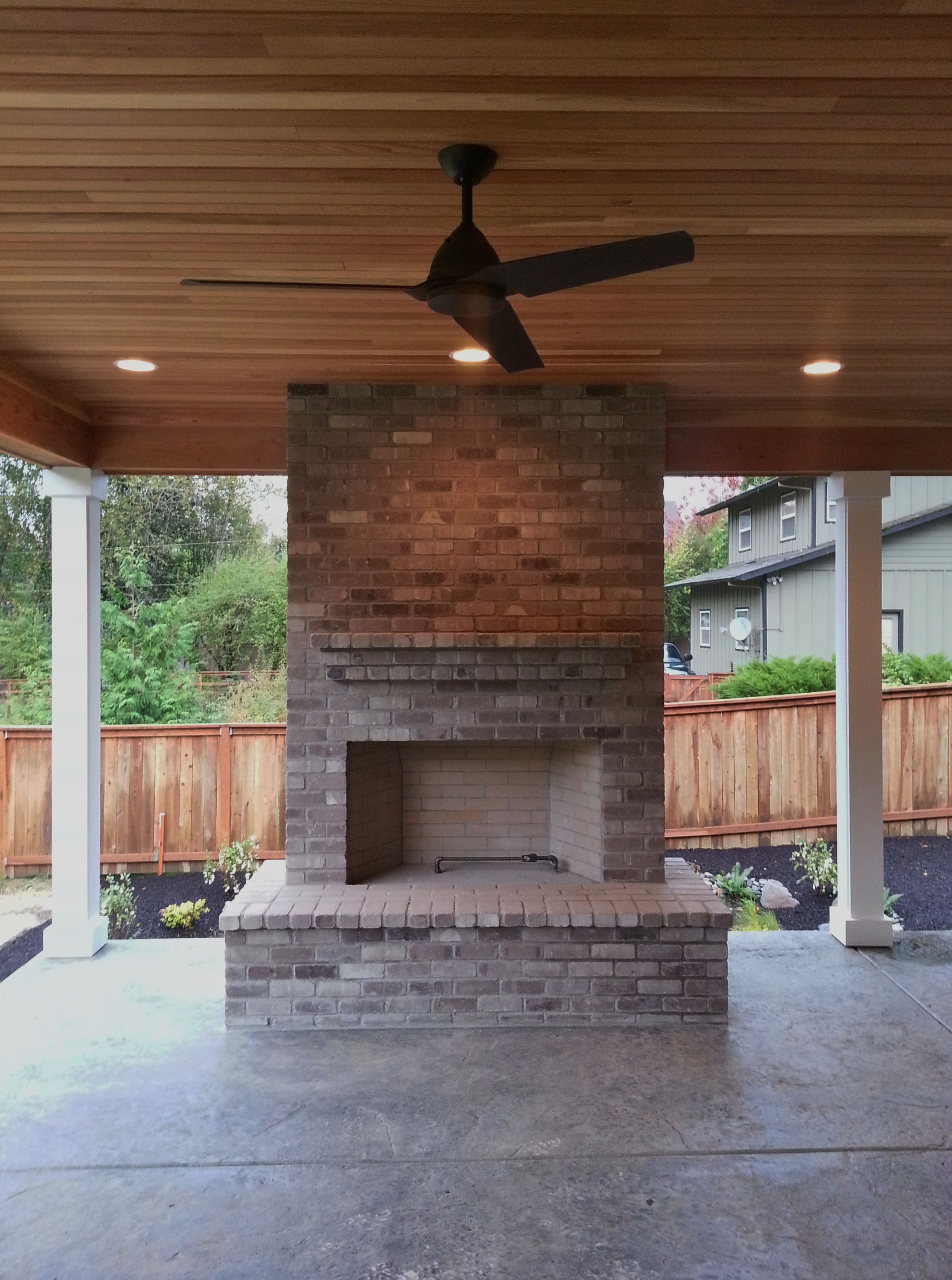 Outdoor Fireplace Brick Gray Brick Outdoor Living