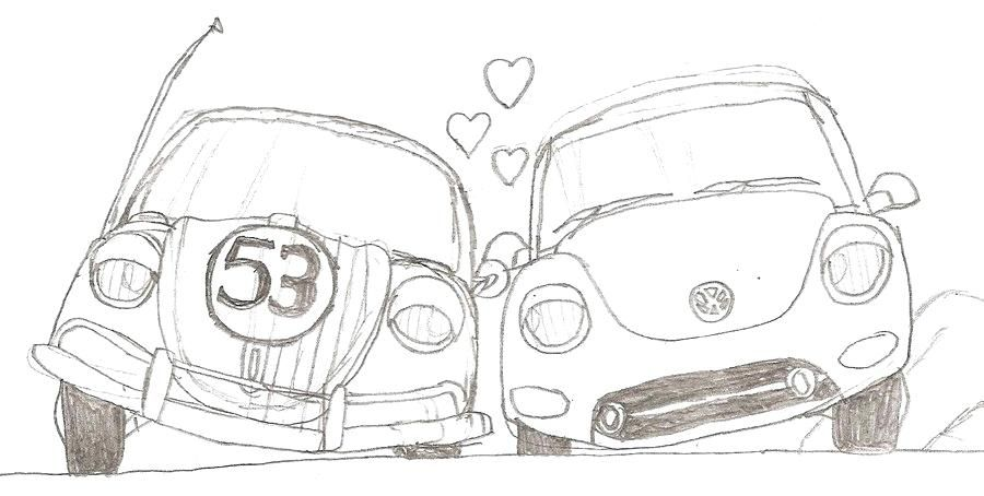 Love Bug Coloring Pages The Love Bug Coloring Sheets ...