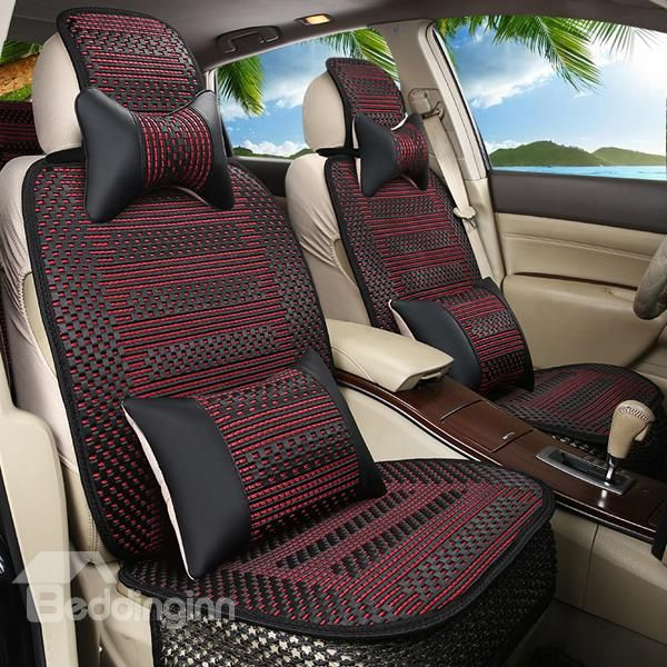 Environmental Ice Silk Material And Hot Selling Car Seat Cover Decor Accessories