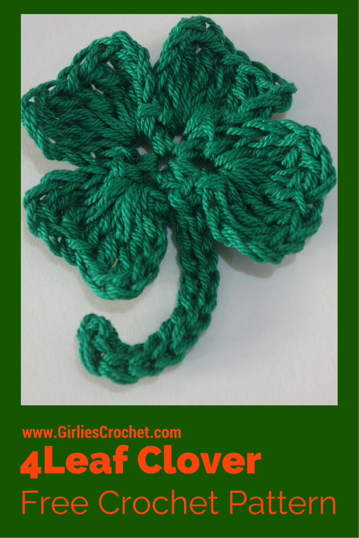 Free crochet pattern crochet 4 leaf clover with photo tutorial in free crochet pattern crochet 4 leaf clover with photo tutorial in each step bankloansurffo Image collections
