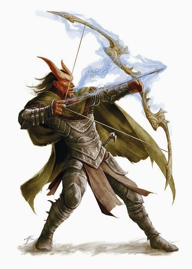 Realms Of Chirak: D&D 5E: Kytron Vellasco, Level 4 Tiefling Fighter Champion Outlander
