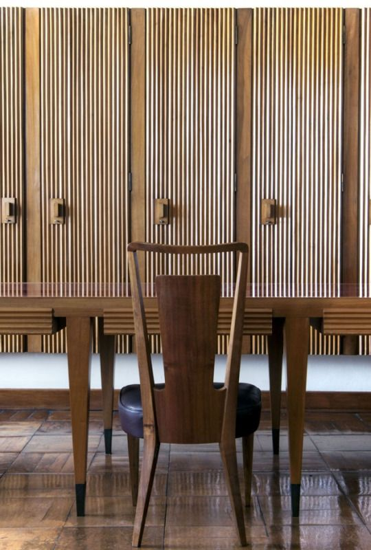 Gio ponti interior from the rector s study university of for Sharon goldreich