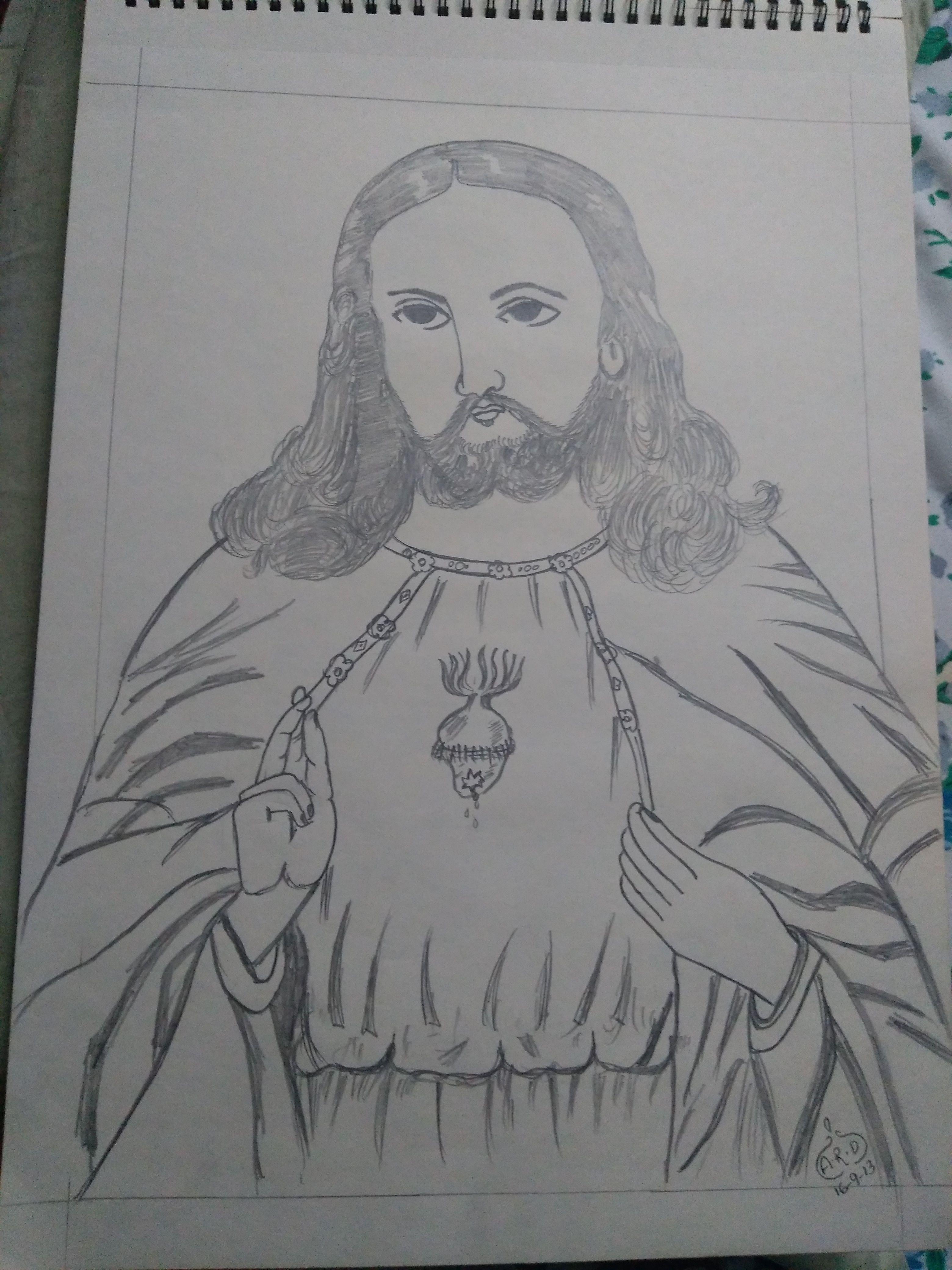 jesus pencil drawing pencil drawings