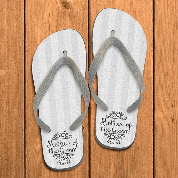 eefbcb5f3810 Mother of the Groom Personalized Flip Flops