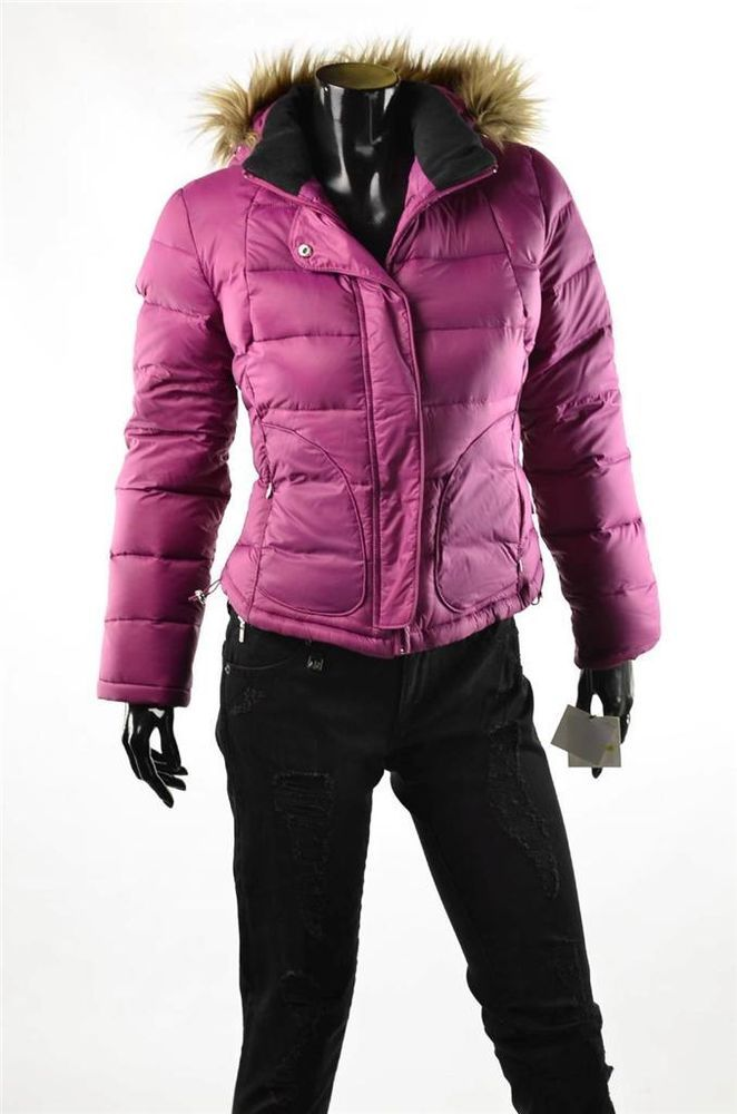 Calvin Klein Jacket Womens Premium Puffer Coat Fuchsia