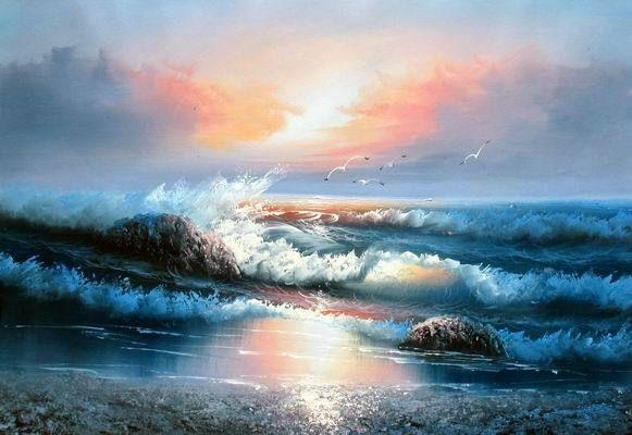98d43de1cdeef3bf60ac51aaf1bbfeff Jpg 581 400 Paisaje Marino Pinturas Al Oleo Marinas Pintura Marina