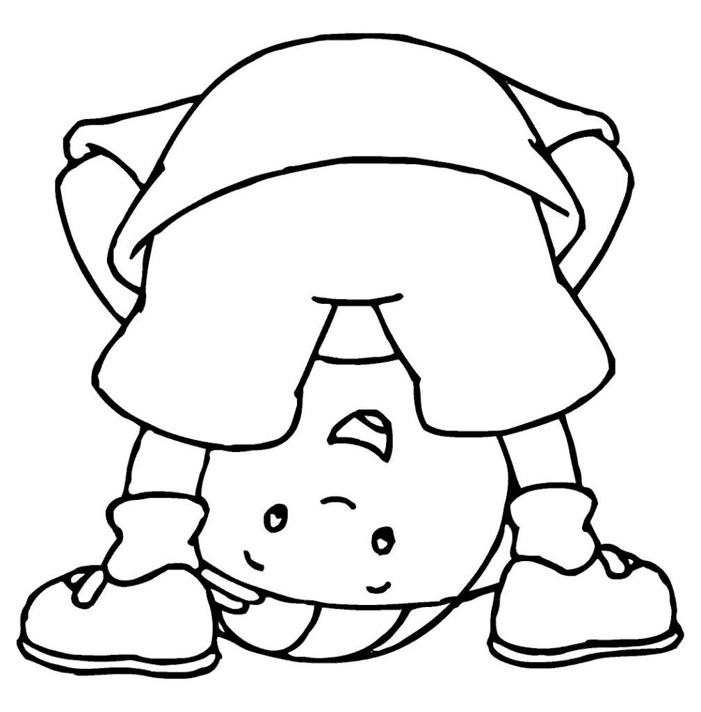 Free Caillou Coloring Pages For Kids | paper - templates | Pinterest