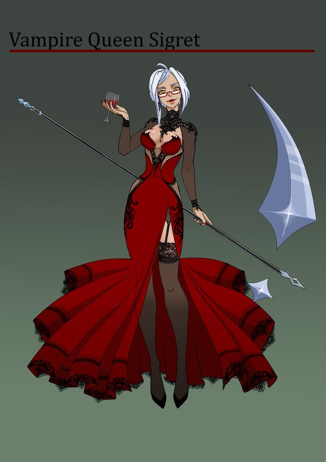 Vampire Queen Sigret EpicSeven in 2020 Vampire queen