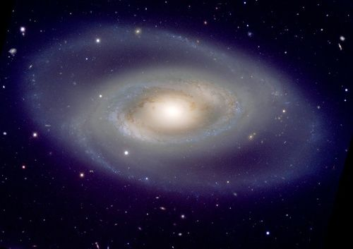 NGC 1350 is a spiral galaxy only somewhat larger than our own Milky Way Galaxy. The spiral arms appear to connect together, forming a ring around the center. Want more astronomy? Head over to astronomyforamateurs.com