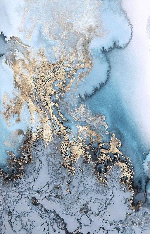 Blue Gold Marble Nature Color Palette Artsy Wallpaper Iphone Desktop Wallpapers Backgrounds