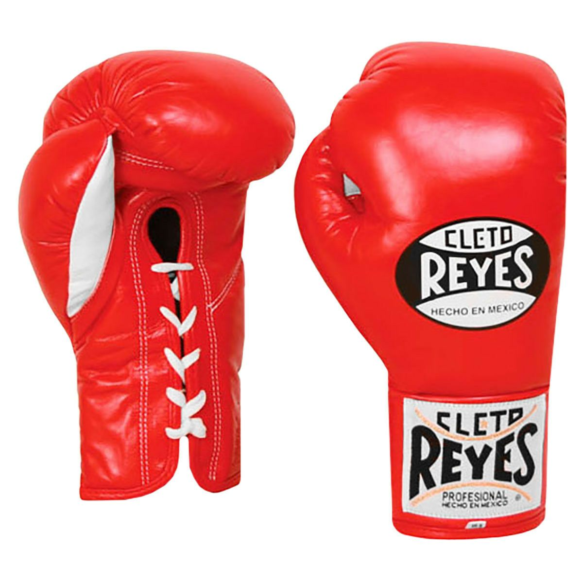 Cleto Reyes Traditional Lace Up Training Boxing Gloves Red 14oz
