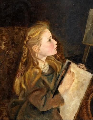 'A Young Artist' - By George Lawrence Bulleid (1858 – 1933, English) via @brianjohnspencer
