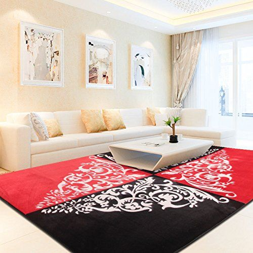 Area Rug Carpet Glows In Dark Modern Large Measures 50 X 78 In Choose Your Colors Red And Black Home Design Blogs Home Decor Rugs