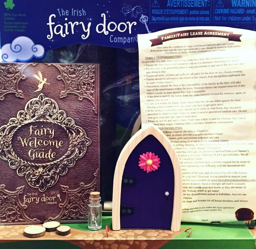 The Irish Fairy Door Company now at Home James Decor! This interactive kit includes Irish fairy door magic key fairy/family lease agreement ... & The Irish Fairy Door Company now at Home James Decor! This ...