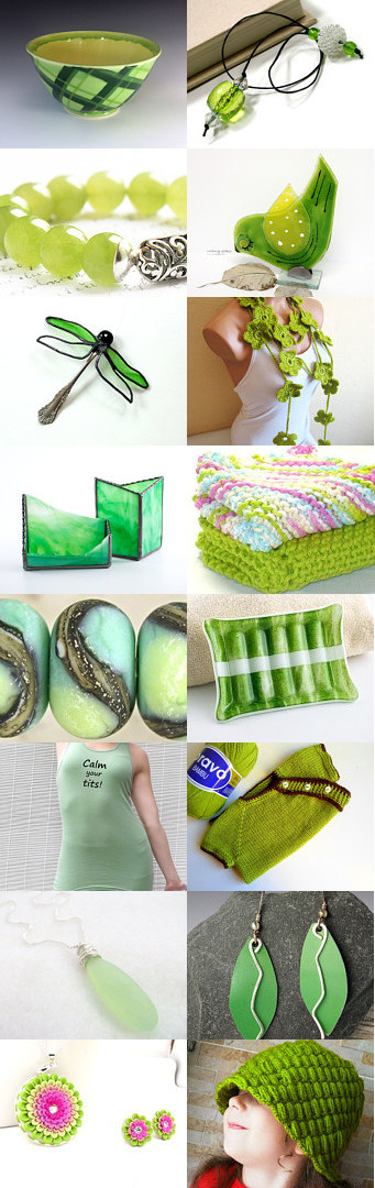 Lucite Green by ArtistiKat on Etsy--Pinned with TreasuryPin.com