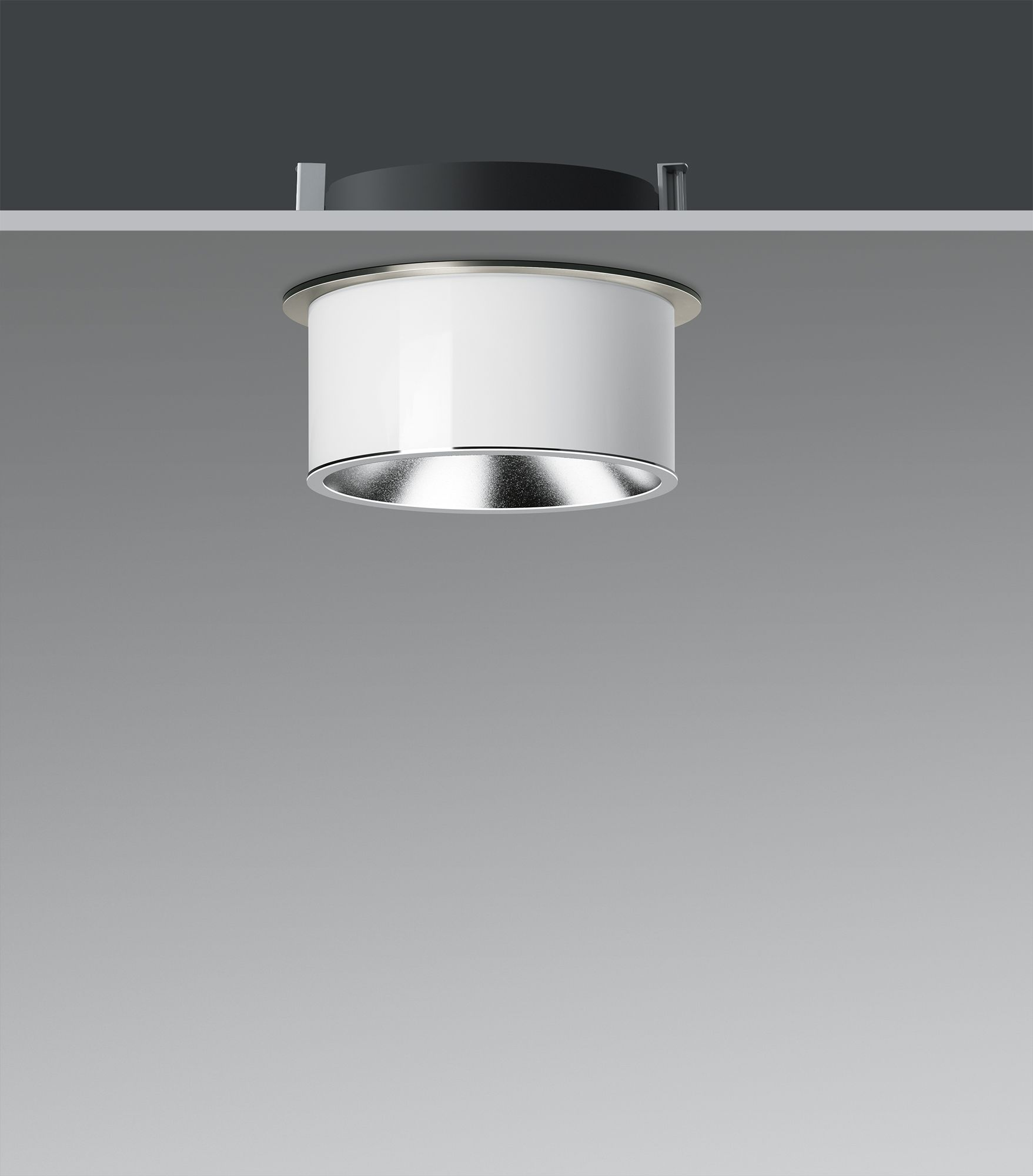 Led Semi Recessed Ceiling Luminaires Downlights With 3 Ply Opal