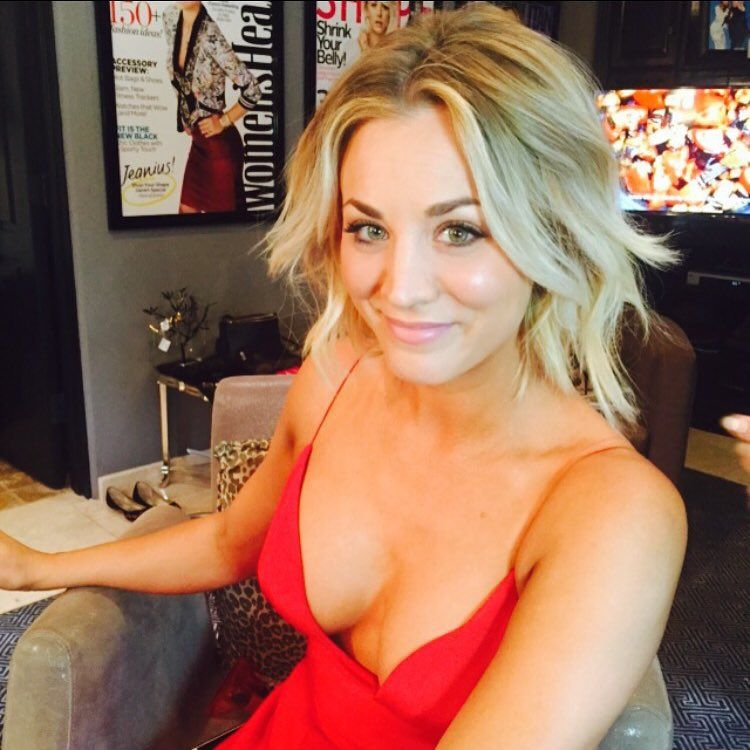Kaley Cuoco Hot Cleavage Instagram