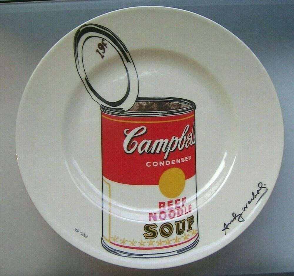 Andy Warhol Campbell S Soup Can Limited Edition Plate By Block W Box In 2020 Campbell S Soup Cans Campbell Soup Campbells