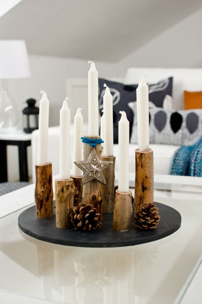 kerzenleuchter aus holz deko kerzen kerzenleuchter. Black Bedroom Furniture Sets. Home Design Ideas
