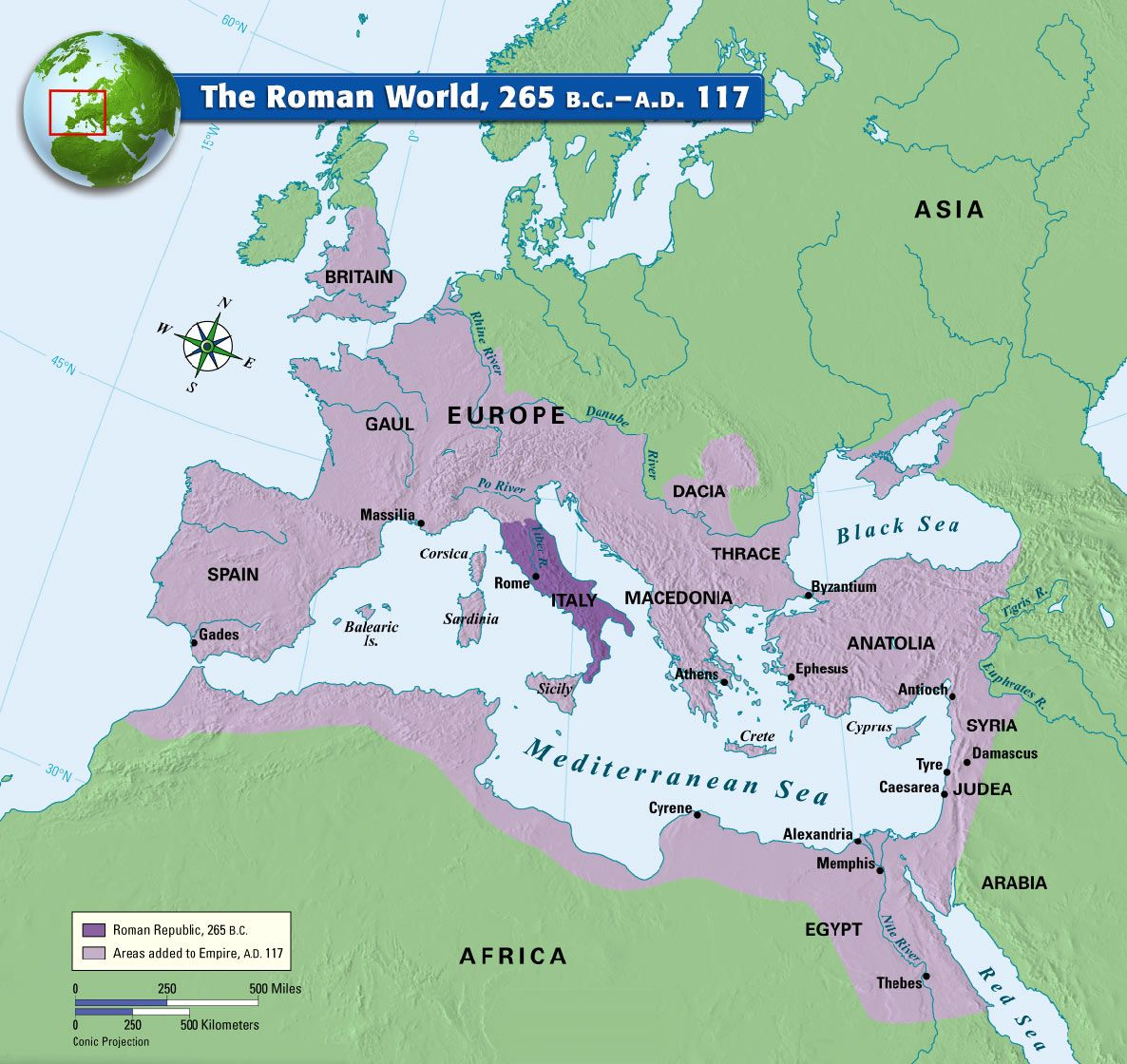 roman empire to 117 ad map The Roman World 265 B C A D 117 Ancient World History roman empire to 117 ad map