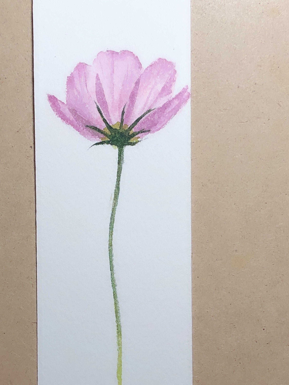 Original Painting Watercolor Painting Handmade Bookmarks Book